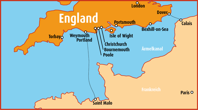 Karte England Schülersprachreisen